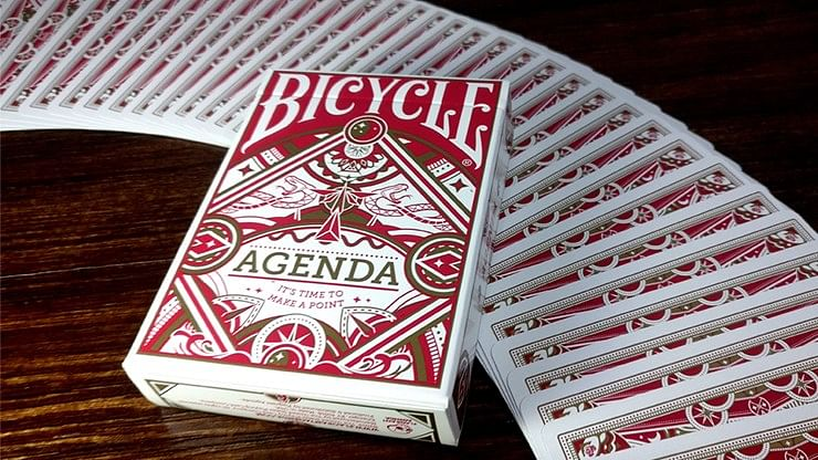 Agenda Red Playing Cards