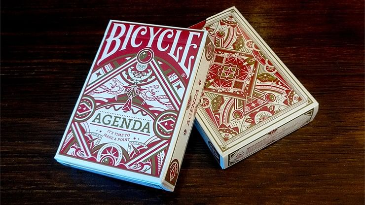 Agenda Red Playing Cards - magic