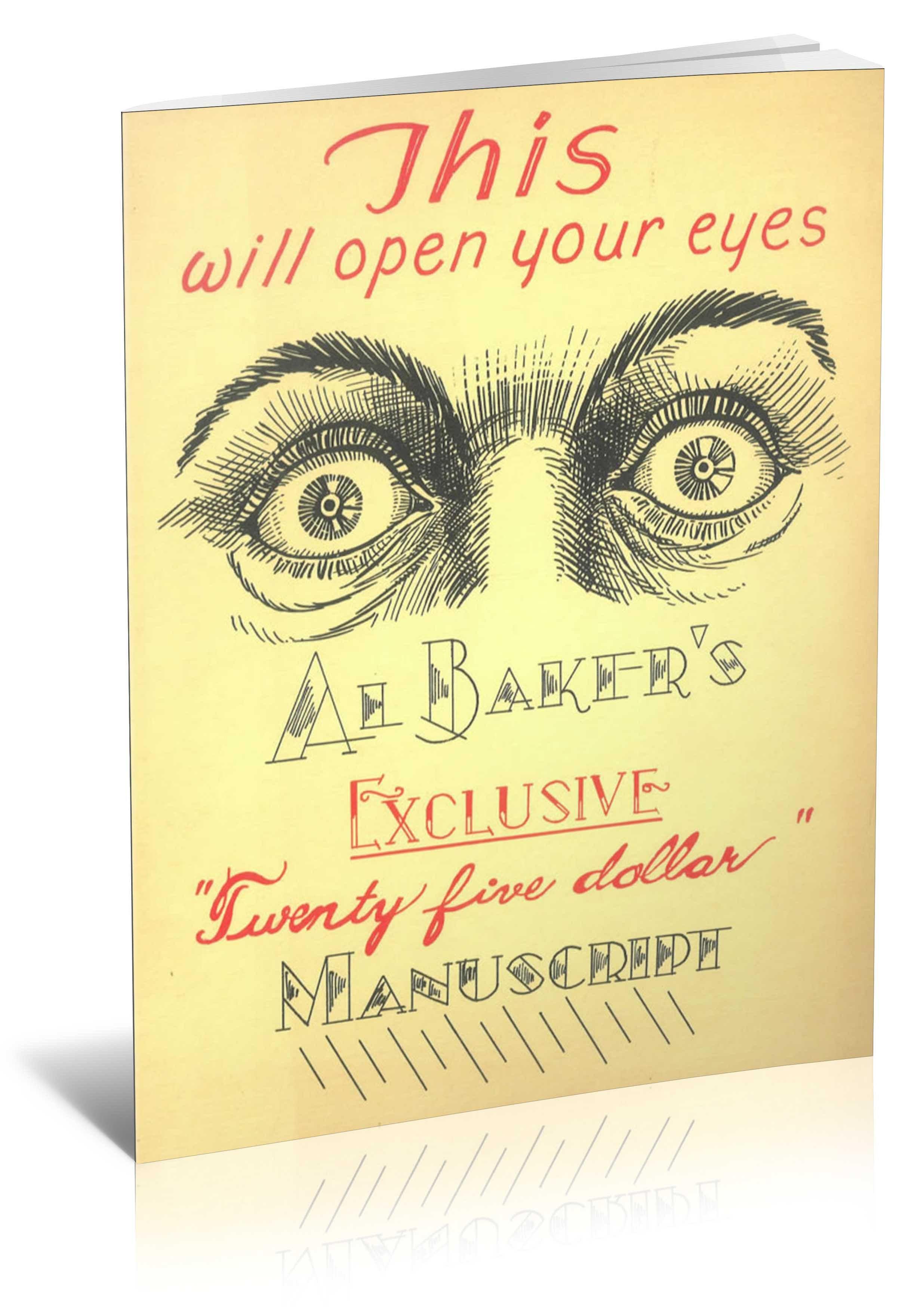 Al Baker's Exclusive Twenty Five Dollar Manuscript - magic