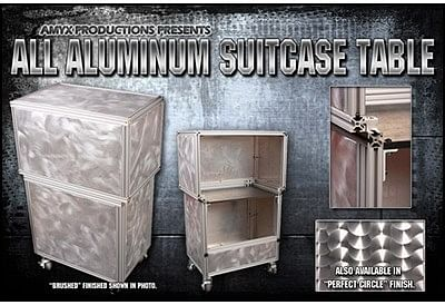 All Aluminum Suit Case Table - magic