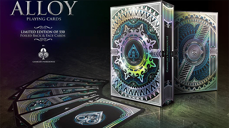 Alloy Cobalt Playing Cards Special Numbered Edition Deck (Blue) - magic