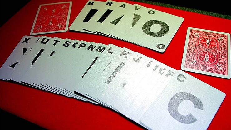 Alphabet Playing Cards Bicycle With Indexes