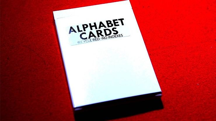 Alphabet Playing Cards Bicycle No Index