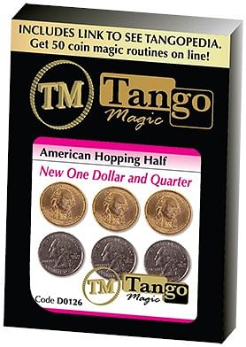 American Hopping Half w/One Dollar and One Quarter Dollar - magic