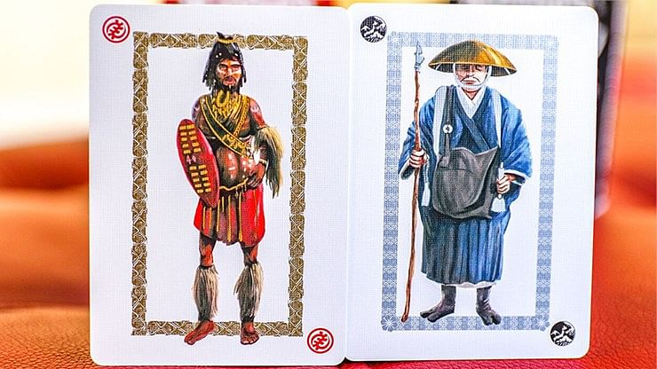 Ancient Warriors Black Playing Cards