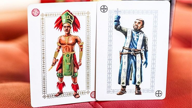 Ancient Warriors Red Playing Cards