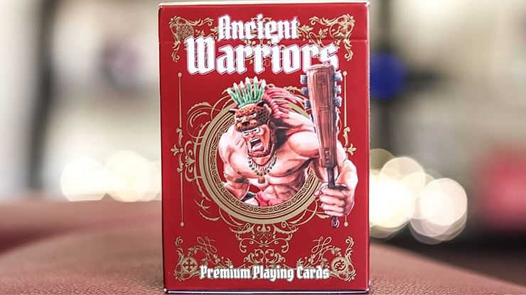 Ancient Warriors Red Playing Cards - magic