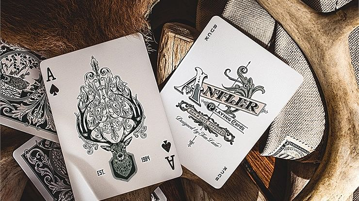 Antler Playing Cards (Green)