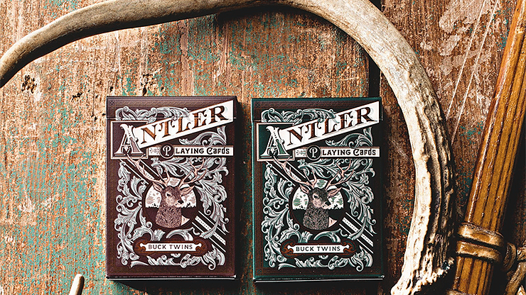 Antler Playing Cards (Green) - magic