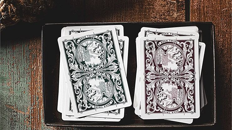 Antler Playing Cards (Maroon)