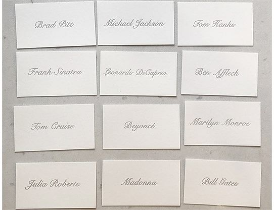 Appearing Business Cards