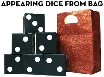 Appearing Dice From Bag - magic