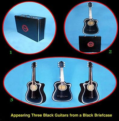 Appearing Guitars from Briefcase - magic