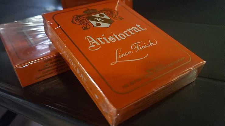Aristocrat Orange Playing Cards - magic