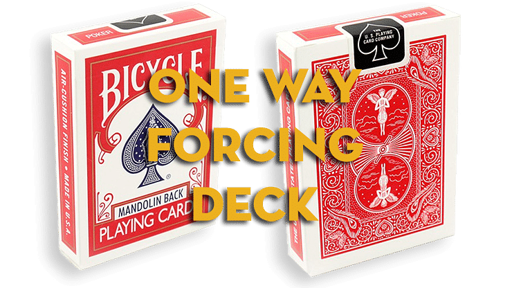 Assorted Mandolin Red One Way Forcing Deck - magic