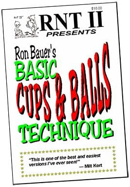 Basic Cups & Balls Technique book - Ron Bauer - magic