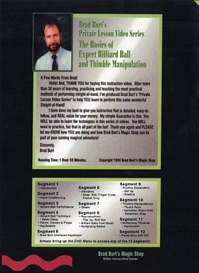 Basics Of Expert Billiard Ball And Thimble Manipulation
