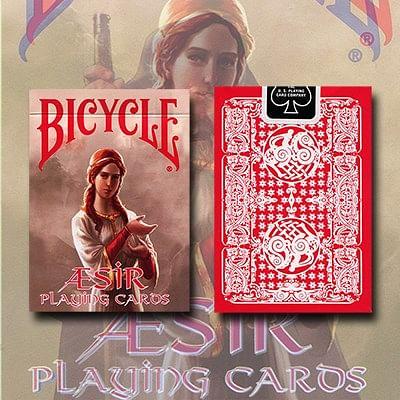 Bicycle Aesir Viking Gods Playing Cards (Red) - magic