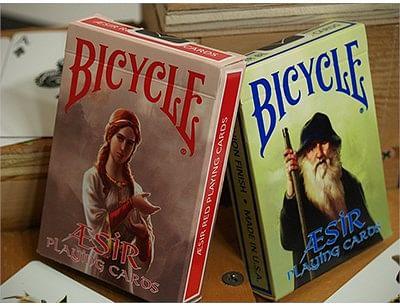 Bicycle AEsir Viking Gods Playing Cards - Red