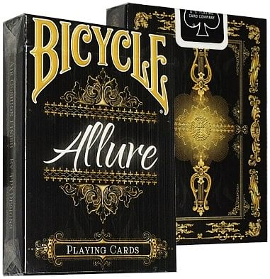 Bicycle Allure Black Deck - magic