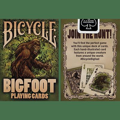 Bicycle Bigfoot Playing Cards - magic