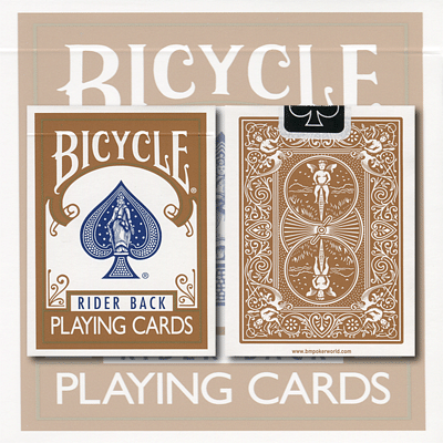 Bicycle Brown Playing Cards - magic