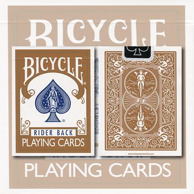 Bicycle Brown Playing Cards - magic