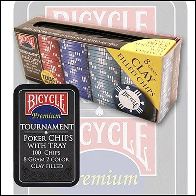 Bicycle Clay Poker Chip Set: 100 Count - magic