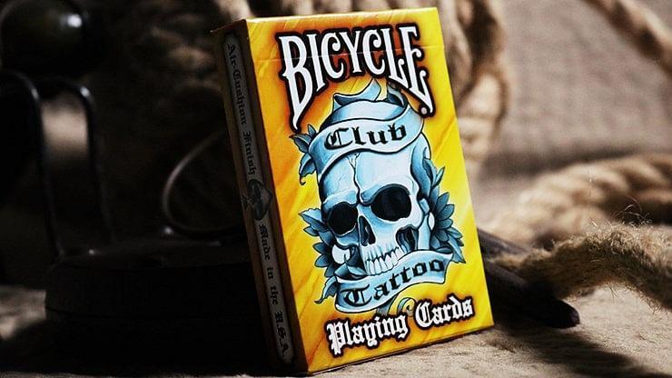 Bicycle Club Tattoo  Playing Cards (Orange) - magic