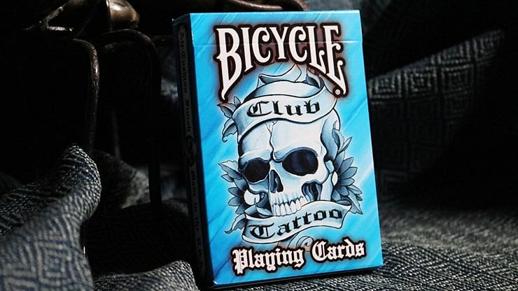 Bicycle Club Tattoo Playing Cards (Blue) - magic