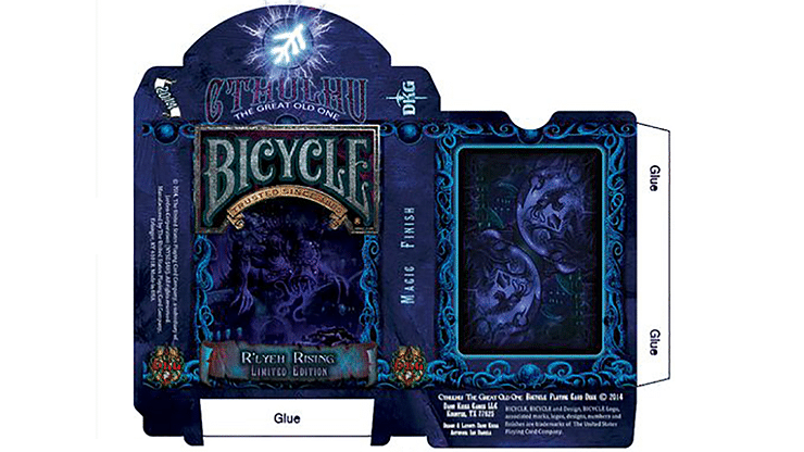 Bicycle Cthulhu R'LYEH RISING Limited Edition Playing Cards - magic