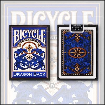 Bicycle Dragon Back Cards - magic