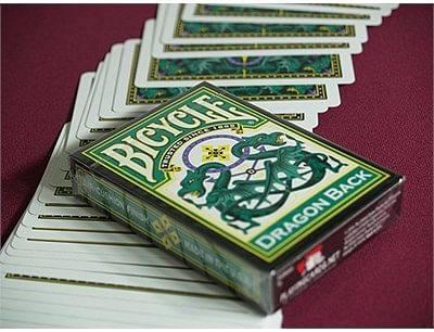 Bicycle Dragon Back Playing Cards (Green)