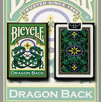 Bicycle Dragon Back Playing Cards (Green) - magic