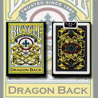 Bicycle Dragon Back Playing Cards (Yellow) - magic