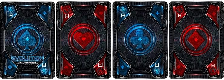 Bicycle Evolution Playing Cards (Red)