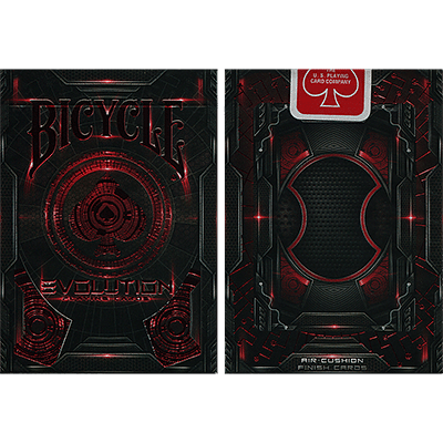 Bicycle Evolution Playing Cards (Red) - magic