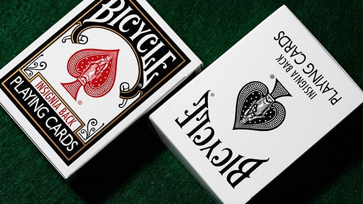 Bicycle Insignia Back  Playing Cards (Black)