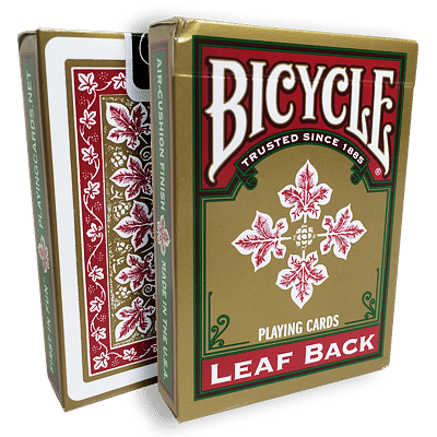 Bicycle Leaf Back Playing Cards (Red) - magic