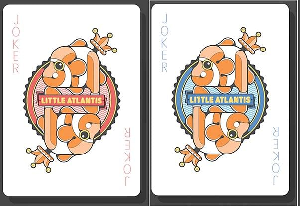 Bicycle Little Atlantis Night Playing Cards