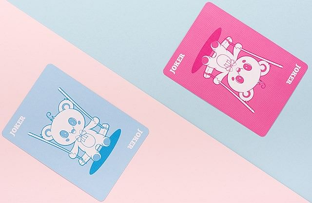 Bicycle Lovely Bear Cards - Light Blue