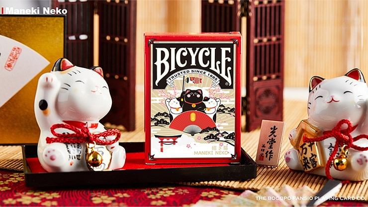 Bicycle Maneki Neko Playing Cards - magic