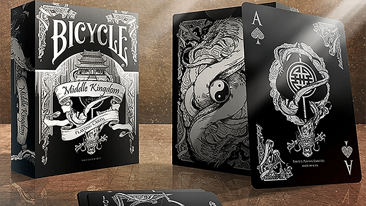 Bicycle Middle Kingdom Playing Cards (Black) - magic