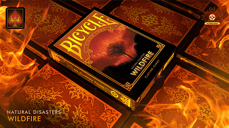 """Bicycle Natural Disasters """"Wildfire"""" Playing Cards - magic"""
