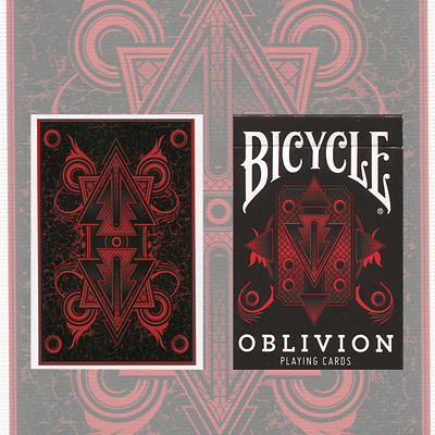Bicycle Oblivion Playing Cards (Red) - magic