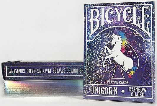 Bicycle Rainbow Gilded Unicorn Playing Cards - magic
