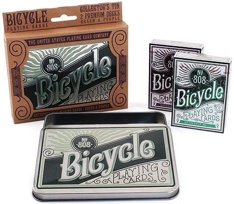Bicycle Retro Tin Playing Cards - magic