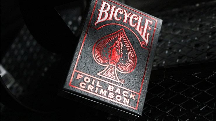 Bicycle Rider Back Playing Cards - Crimson Luxe V2 (Red)