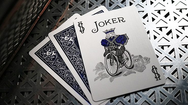 Bicycle Rider Back Playing Cards - Crimson Luxe V2 (Blue)