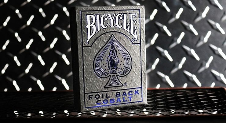 Bicycle Rider Back Playing Cards - Crimson Luxe V2 (Blue) - magic